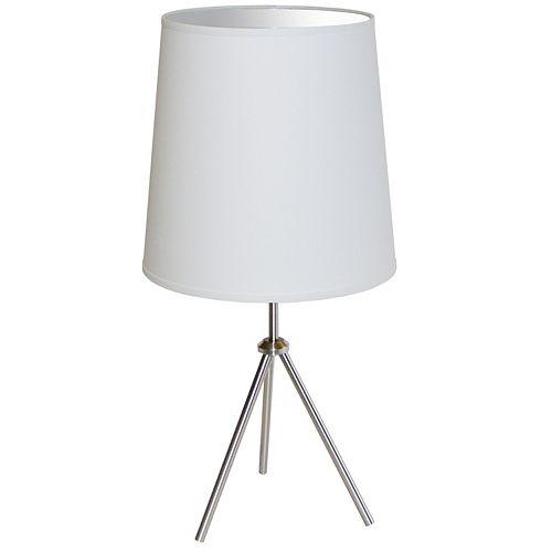 Dainolite 1 Light 3 Leg Large Drum Table Fixture w/White Shade