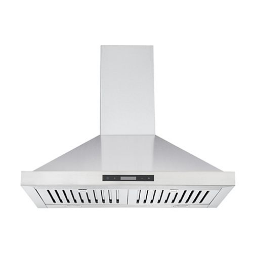 Ancona WPB630 30-inch 620 CFM Convertible Wall Mount Pyramid Range Hood in Stainless Steel