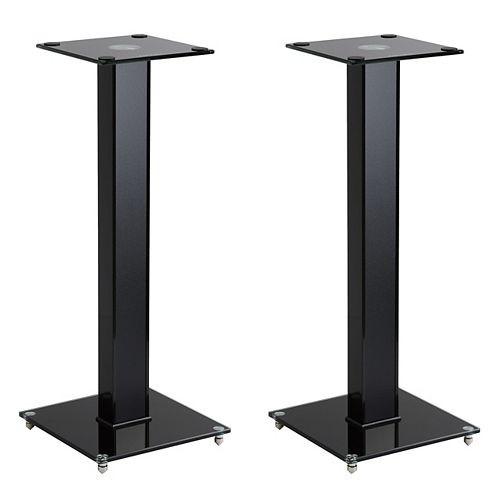 """Corliving MPM-290-S 29"""" Gloss Black Fixed Height Speaker Stand, Set of 2"""