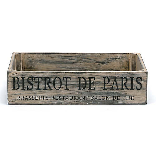 French Bistro Low Wood Crate