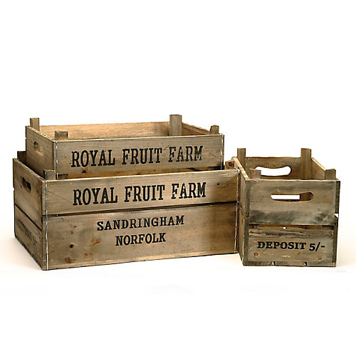 Apple Box 3 Piece Crate Set
