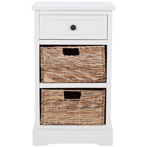 Safavieh Carrie Side Table in Distressed Cream