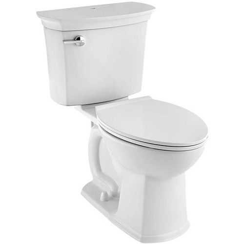 American Standard ActiClean 4.8L Single Flush Right Height Elongated Complete Toilet in White