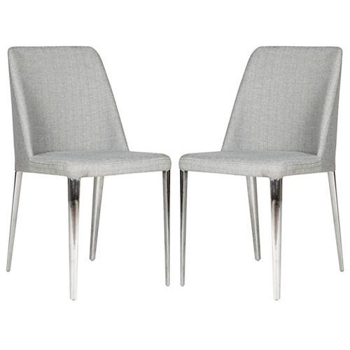 Safavieh Baltic Grey Linen Dining Chair (Set of 2)