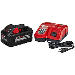 M18 18V Lithium-Ion HIGH OUTPUT Starter Kit W/ XC 8.0Ah Battery & Rapid Charger