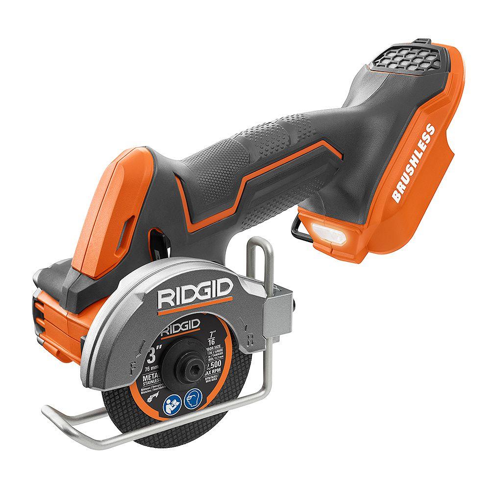 RIDGID 18V Brushless Sub-Compact Cordless 3 -inch Multi-Material Saw