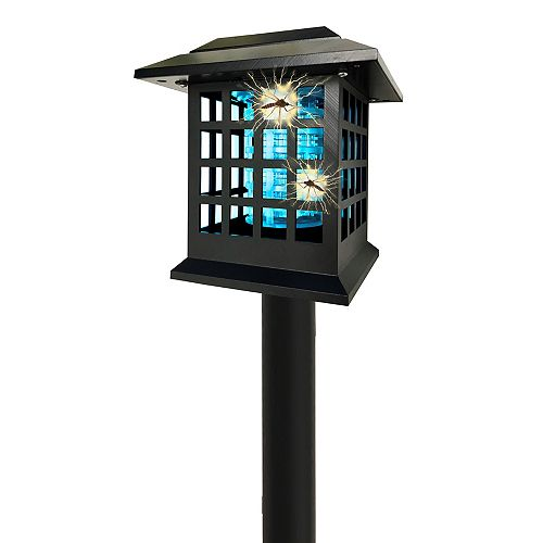 Bell + Howell Solar Powered Cordless Dual Lighting Modes Bug Zapper (2 Stakes)