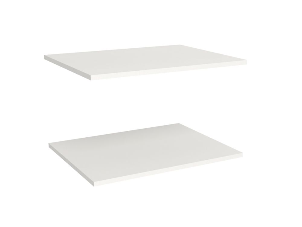 Impressions 25 in. Deluxe Extra Shelves in White (2 Pack)