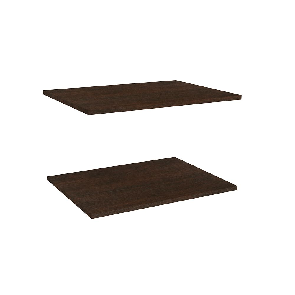 ClosetMaid Impressions 25 in. Deluxe Extra Shelves in Chocolate (2 Pack)