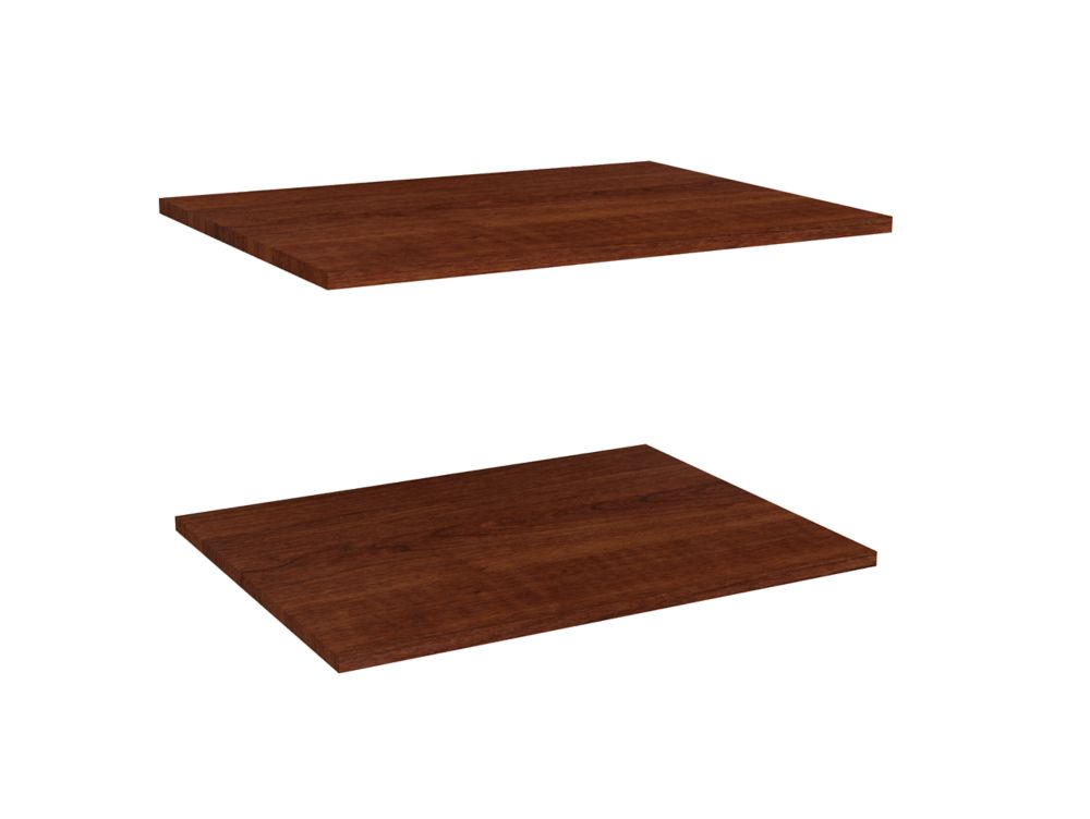 Impressions 25 in. Deluxe Extra Shelves in Dark Cherry (2 Pack)