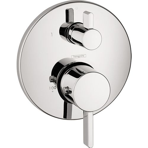 Hansgrohe Ecostat Thermostatic 2-Handle Valve Trim Kit in Chrome with Volume Control (Valve Sold Separately)