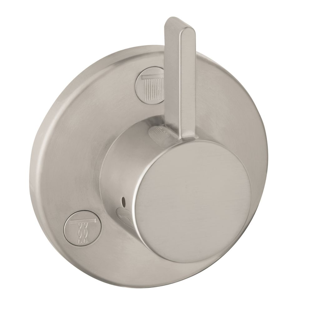 Ecostat 1-Handle Diverter Trim S Trio/Quattro in Brushed Nickel (Valve Sold Separately)