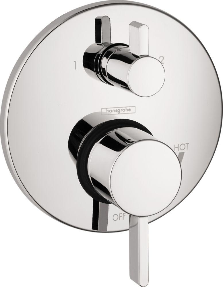 Ecostat S 2-Handle Pressure Balance Valve Trim Kit with Diverter in Chrome (Valve Sold Separately)
