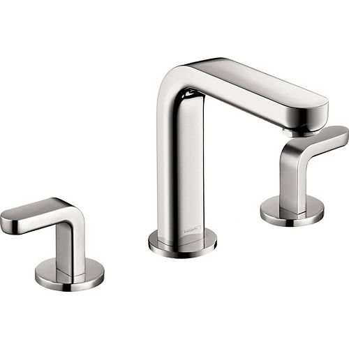 Hansgrohe Metris S 8 -inch Widespread 2-Handle Mid-Arc Bathroom Faucet in Chrome