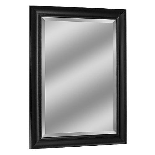 Deco Mirror 37 in. x 47 in. Contemporary Black Wall Mirror