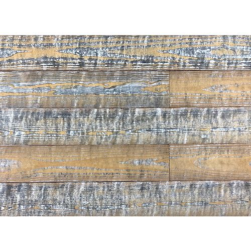 Easy Planking Thermo-treated 1/4 in. x 5 in. x 4 ft. Barn Wood Accent Wall Planks 10 Sq. Ft. per 6-Planks Case