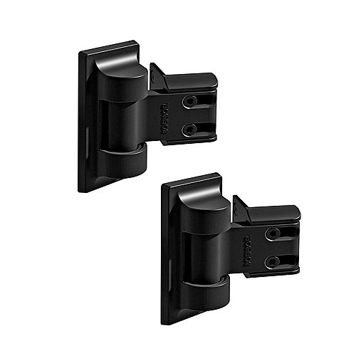 Barrette Standard Wrap Hinge Pair - Black