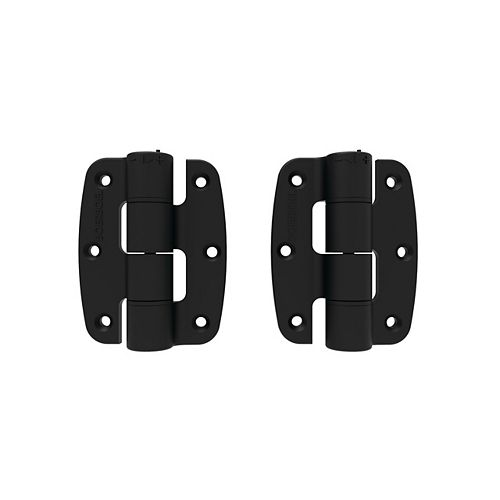 Barrette Compact Plym Butterfly Hinge Pair - Black