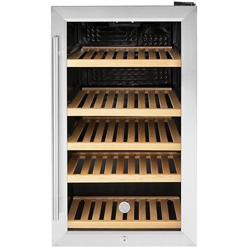 GE 4,1 pieds cubes Refroidisseur de boissons de 31 bouteilles en acier inoxydable