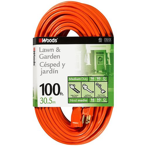 Southwire 16/3 SJTW 100 ft. Orange Outdoor Extension Cord