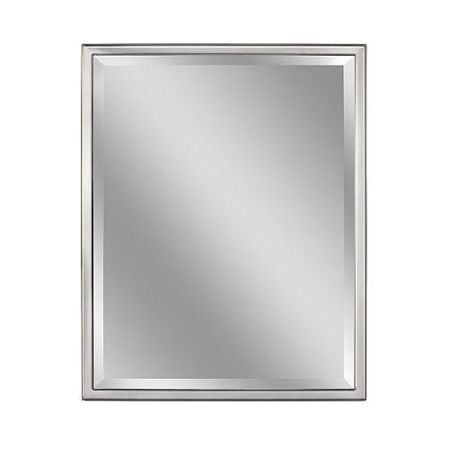 Deco Mirror 30 in. x 40 in. Classic Chrome Wall Mirror