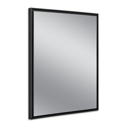 Deco Mirror 24 in. x 30 in. Black Studio Float Wall Mirror
