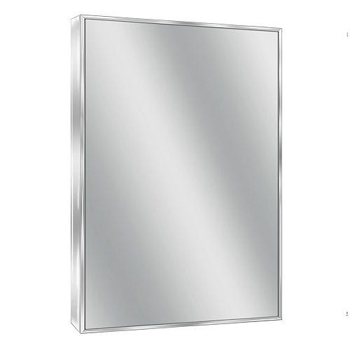 Deco Mirror 24 in. x 30 in. Spectrum Chrome Wall Mirror