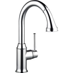 Hansgrohe Talis C 1-Handle Pull-Down Sprayer Kitchen Faucet in Chrome