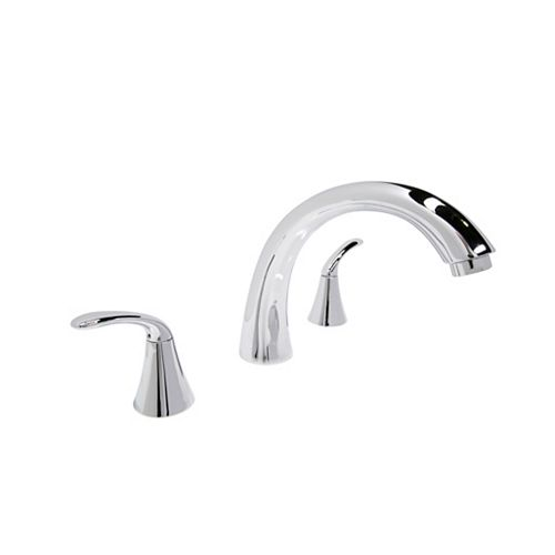 ANZZI Note Series 2-Handle Deck-Mount Roman Tub Faucet in Polished Chrome