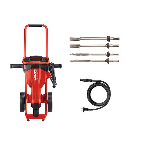 Hilti 15 Amp 120 Volt 1 in. TE 2000-AVR Polygon Demolition Jack Hammer Kit with Trolley and 4 Chisels