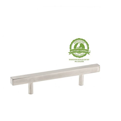 Richelieu 3 1/2-inch (89 mm) Center-to-Center Brushed Nickel Contemporary Cabinet Pull