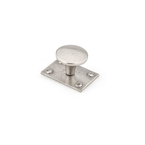 Richelieu 1 1/2-inch (38 mm) Newcastle Antique Polished Nickel Traditional Cabinet Knob