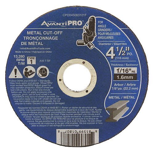 Diablo 4-1/2 x 1/16 Metal Cut-Off Type 1