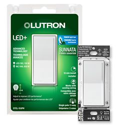 Lutron Lutron Sunnata Touch Dimmer with LED+ Technology for Superior Dimming of LEDs, White