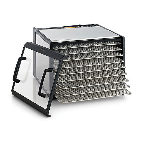 Excalibur Excalibur 9 Tray Stainless Steel Dehydrator with Clear Door