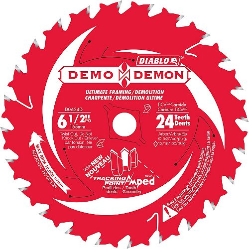 Diablo 6-1/2 Inch x 24-Tooth Demo Demon Saw Blade