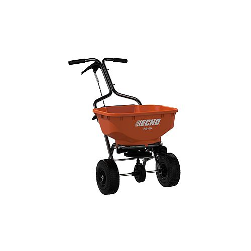 ECHO 60LBS. BROADCAST TURF SPREADER WITH 25,000 SQ. FT. CAPACITY AND SIDE DEFLECTOR