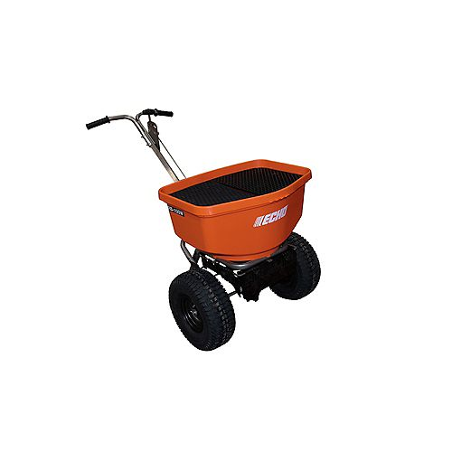 ECHO 100LBS. BROADCAST TURF AND WINTER SPREADER WITH STAINLESS STEEL FRAME AND ADJUSTABLE DEFLECTOR