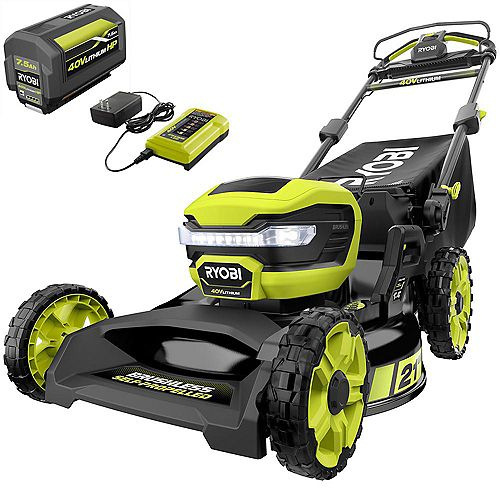 RYOBI 40V 21-inch Lithium-Ion Brushless Cordless Walk Behind Self-Propelled Mower with 7.5 Ah Battery