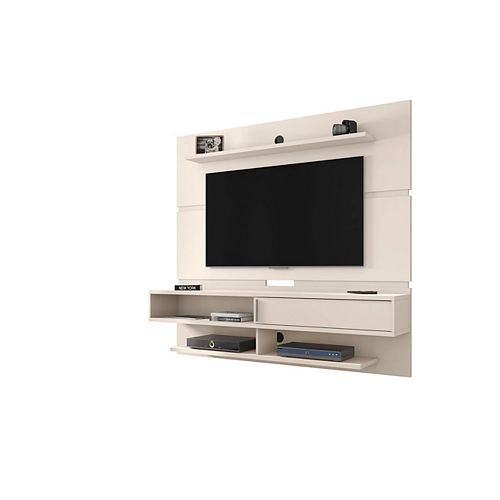 Manhattan Comfort Astor 70.86 Floating Entertainment Center in Off White