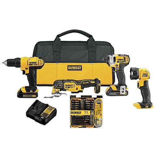 Dewalt 20V MAX LITHIUM-ION COMBO KIT WITH 24 PIECE SCREWDRIVING SET