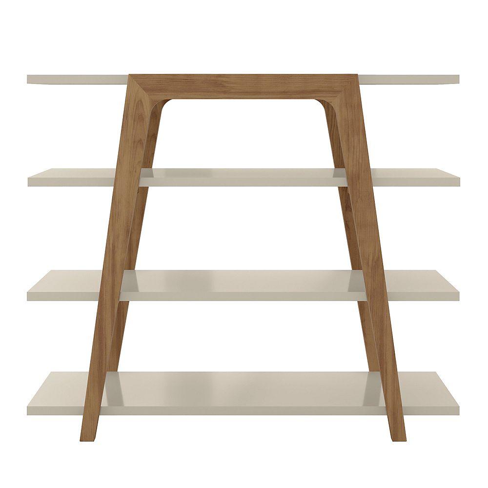 Manhattan Comfort Gowanus Ladder Bookcase In Off White