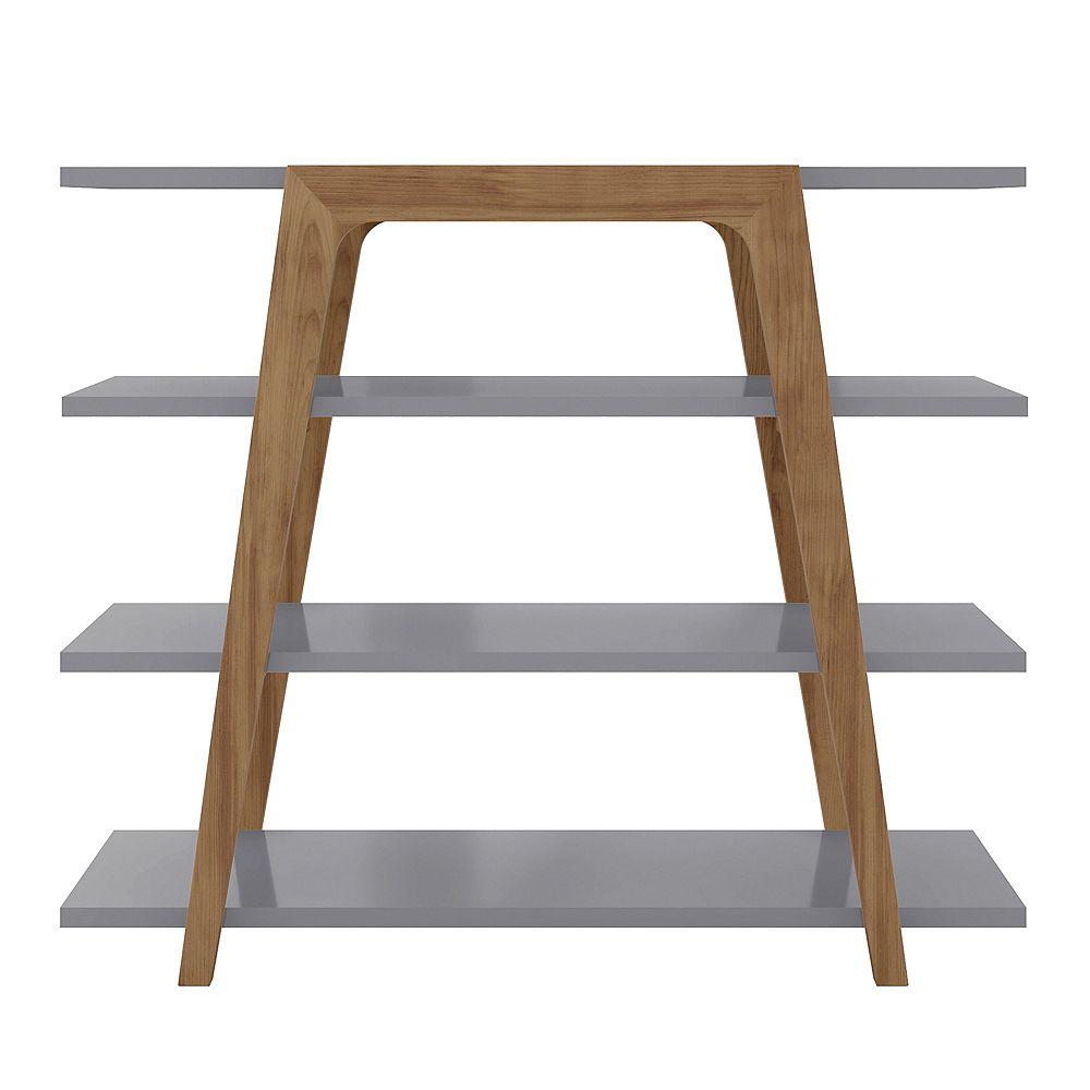 Manhattan Comfort Gowanus Ladder Bookcase In Grey