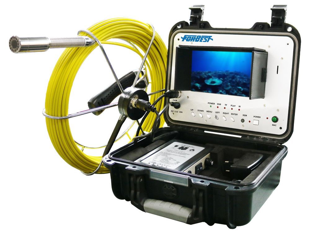 Forbest Portable 130 Ft Color Sewer Drain Pipe Inspection Camera