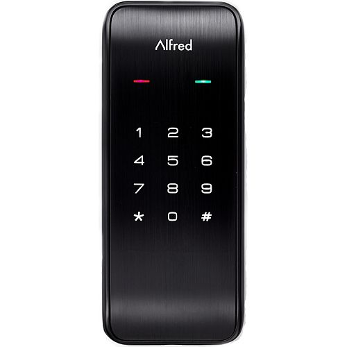 Alfred DB2 Smart Door Lock Touchscreen Keypad Pin + Bluetooth In Black