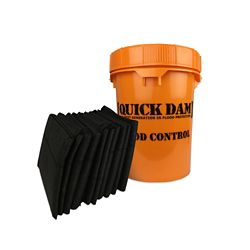 Quick Dam Grab & Go Flood Control Kit - Includes (10) 5 Ft Water Activated Flood Barriers