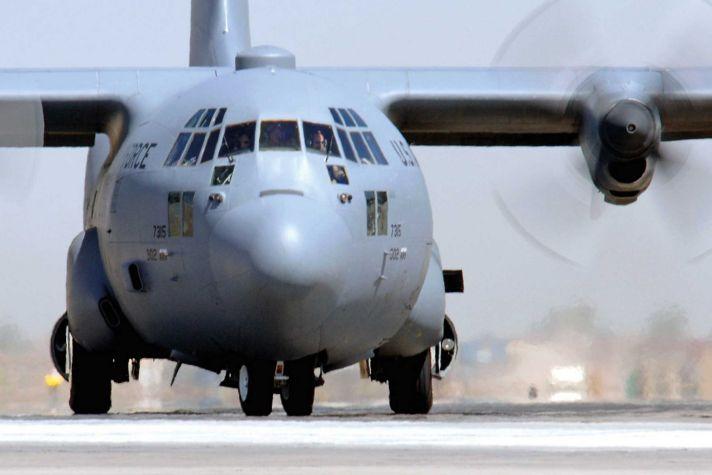 C130 on runway