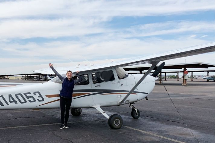 Cessna image with Katie