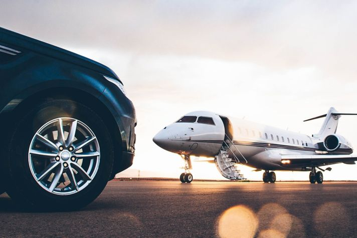 Getting on business jet