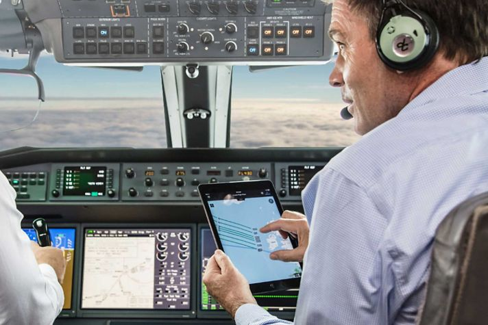 Pilots Cockpit datalink